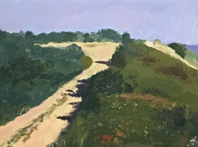 Road at High Head, acrylic on Masonite, 9 in x 12 in